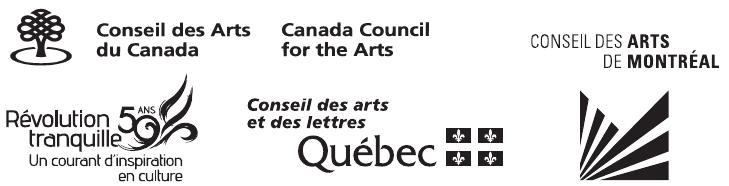 Logos : Conseil des arts et des lettres du Québec, Conseil des arts du Canada, Conseil des arts de Montréal, Révolution tranquille